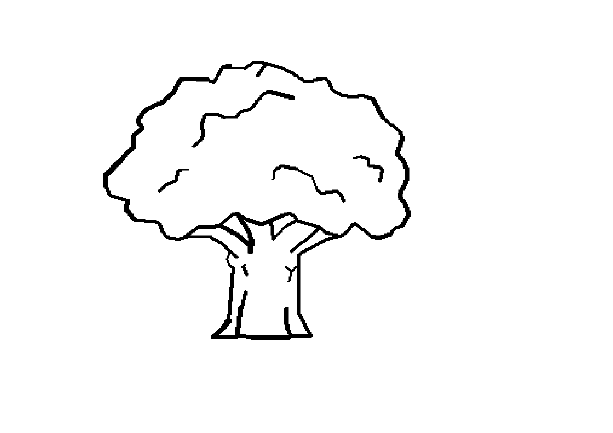 Tree Clipart Black And White Clipart Best