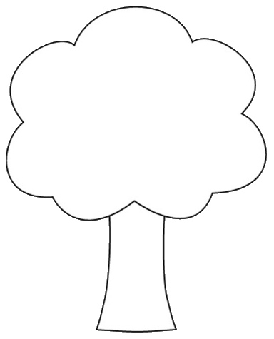 Tree Shape Clipart To Color 12cm Flickr Photo Sharing