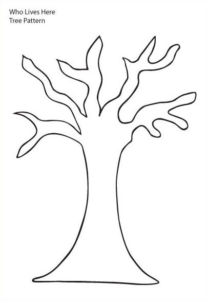 tree trunk clipart   Tree Pattern - Tree with six branches and trunk without leaves on