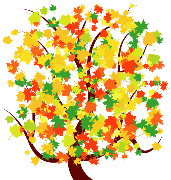 Tree With Falling Leaves Clip Art