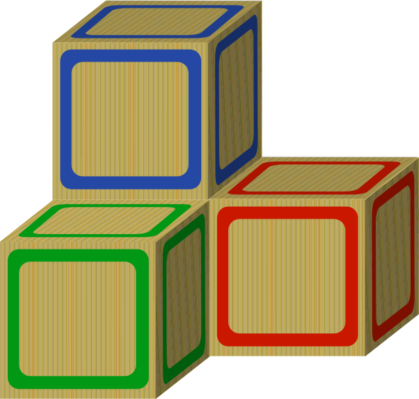 Tri Baby 2 Plain Blocks Clip Art At Clker Com Vector Clip Art Online