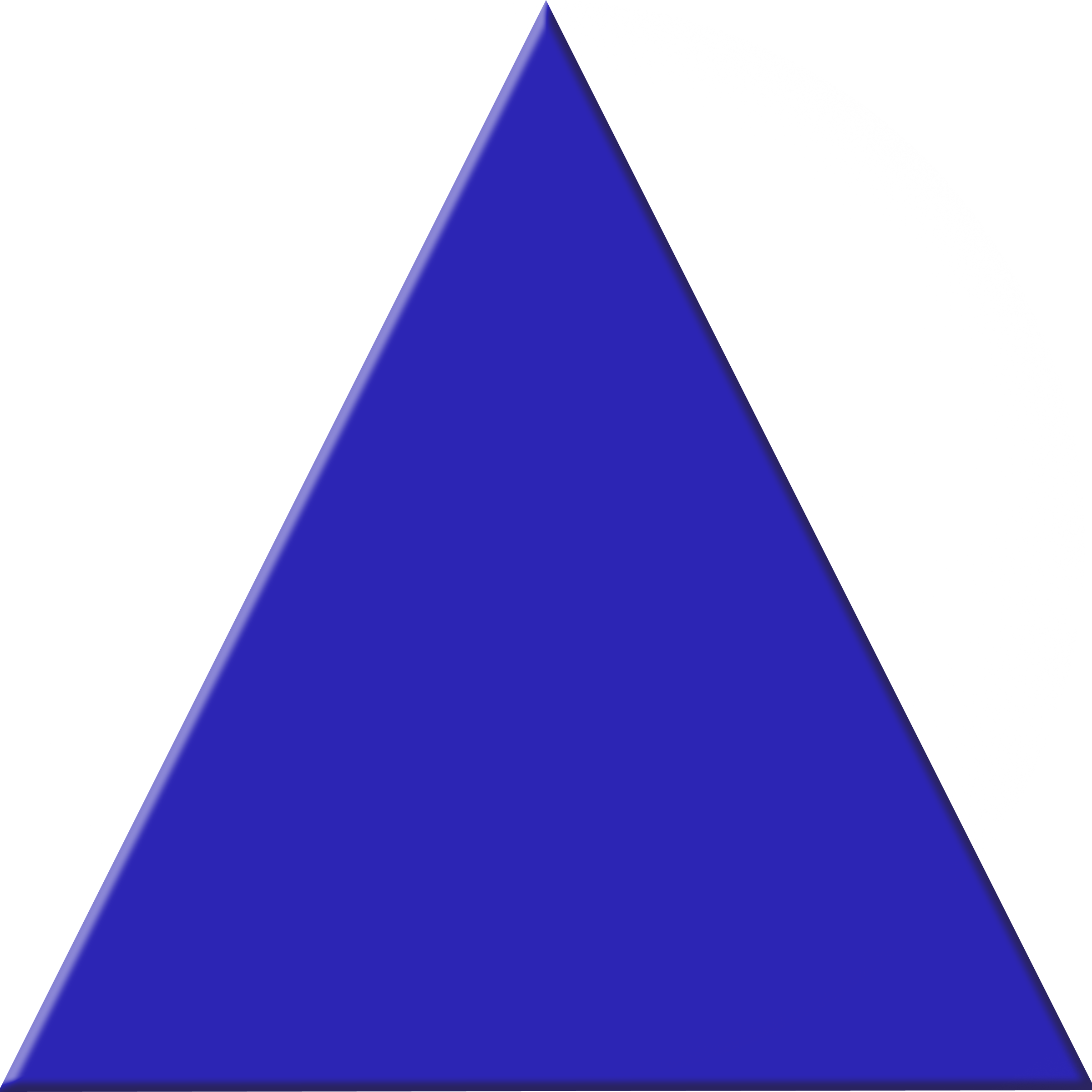 Blue Triangle Clipart #1
