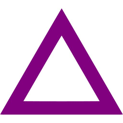 Triangle clipart purple #3