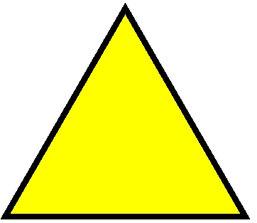 Triangle clipart yellow #7