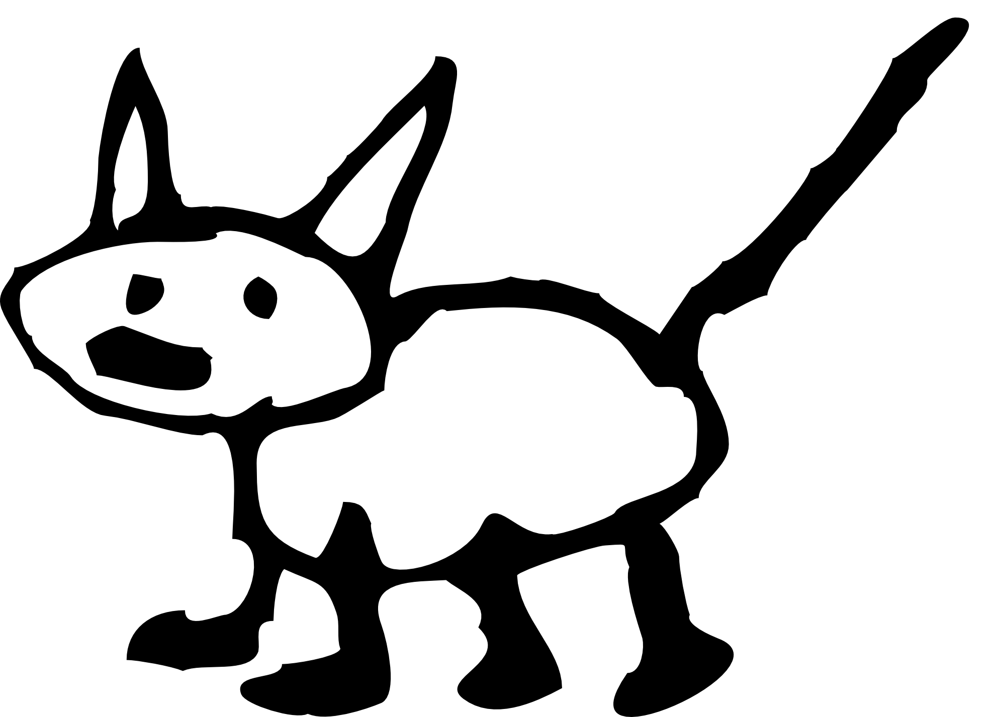 triceratops clipart black and white