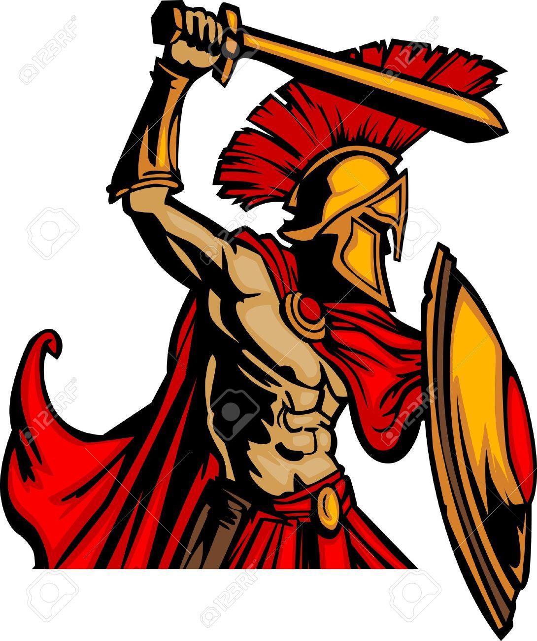 Trojan Warrior Clip Art. trojan head: Trojan Mascot .