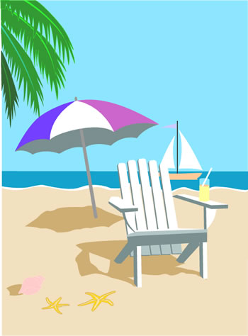 Tropical Beach Clip Art