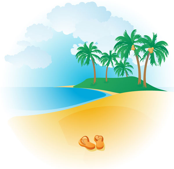 Tropical Beach Clipart   Clipart library - Free Clipart Images