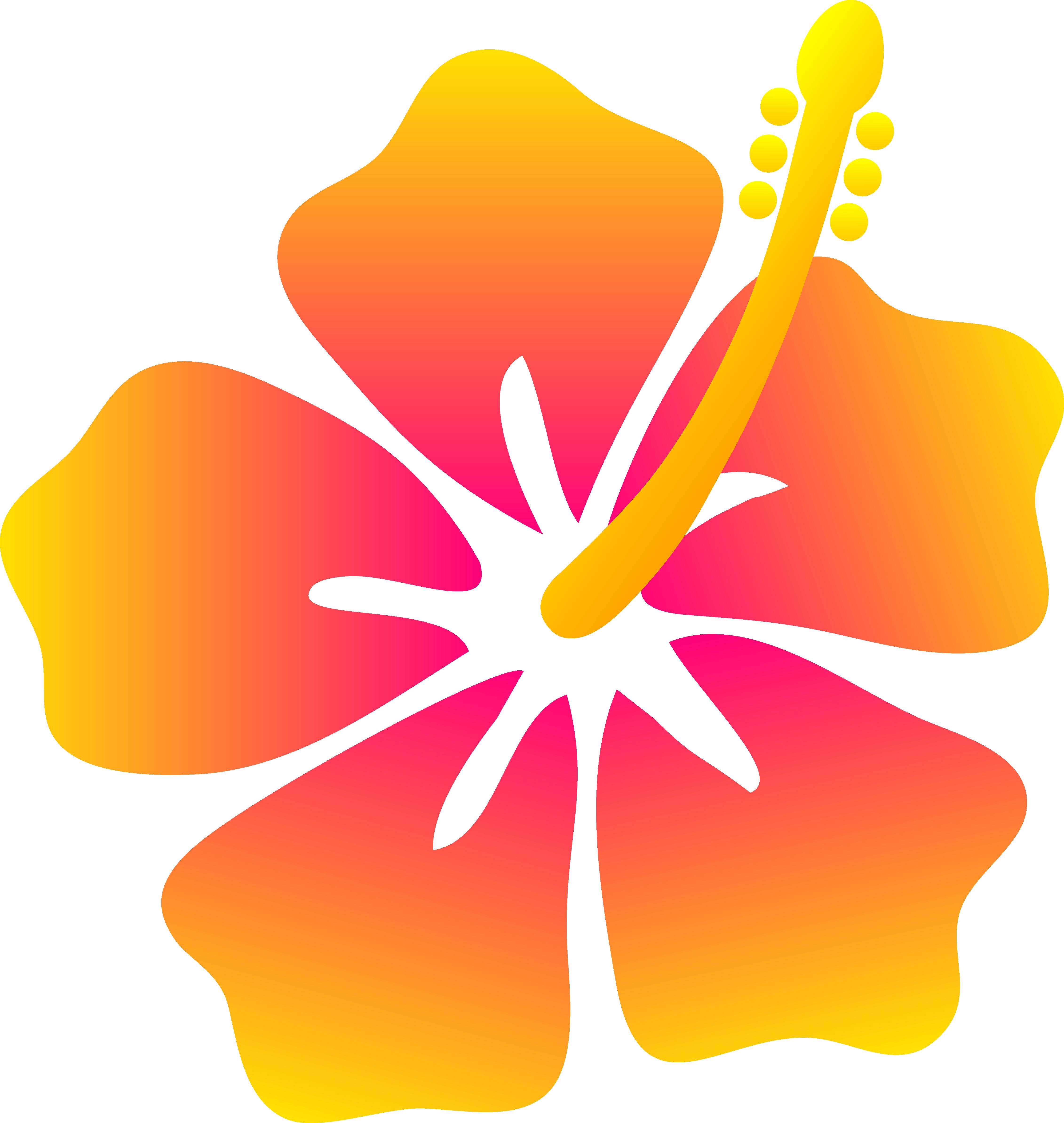 Tropical Flowers Clip Art Free