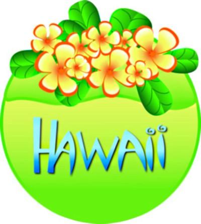 Tropical Free Hawaiian Clip Art, Hawaiian Flower, Hawaiian Luau, Vintage Hawaiin