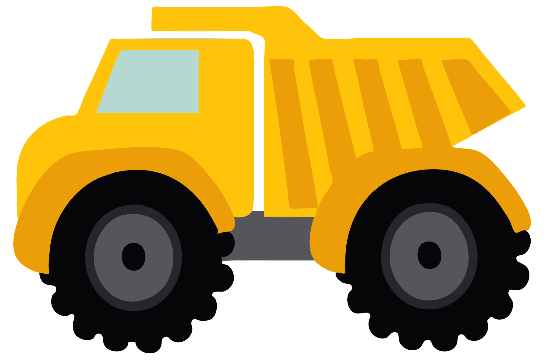 Dump truck clipart black and white free clipart