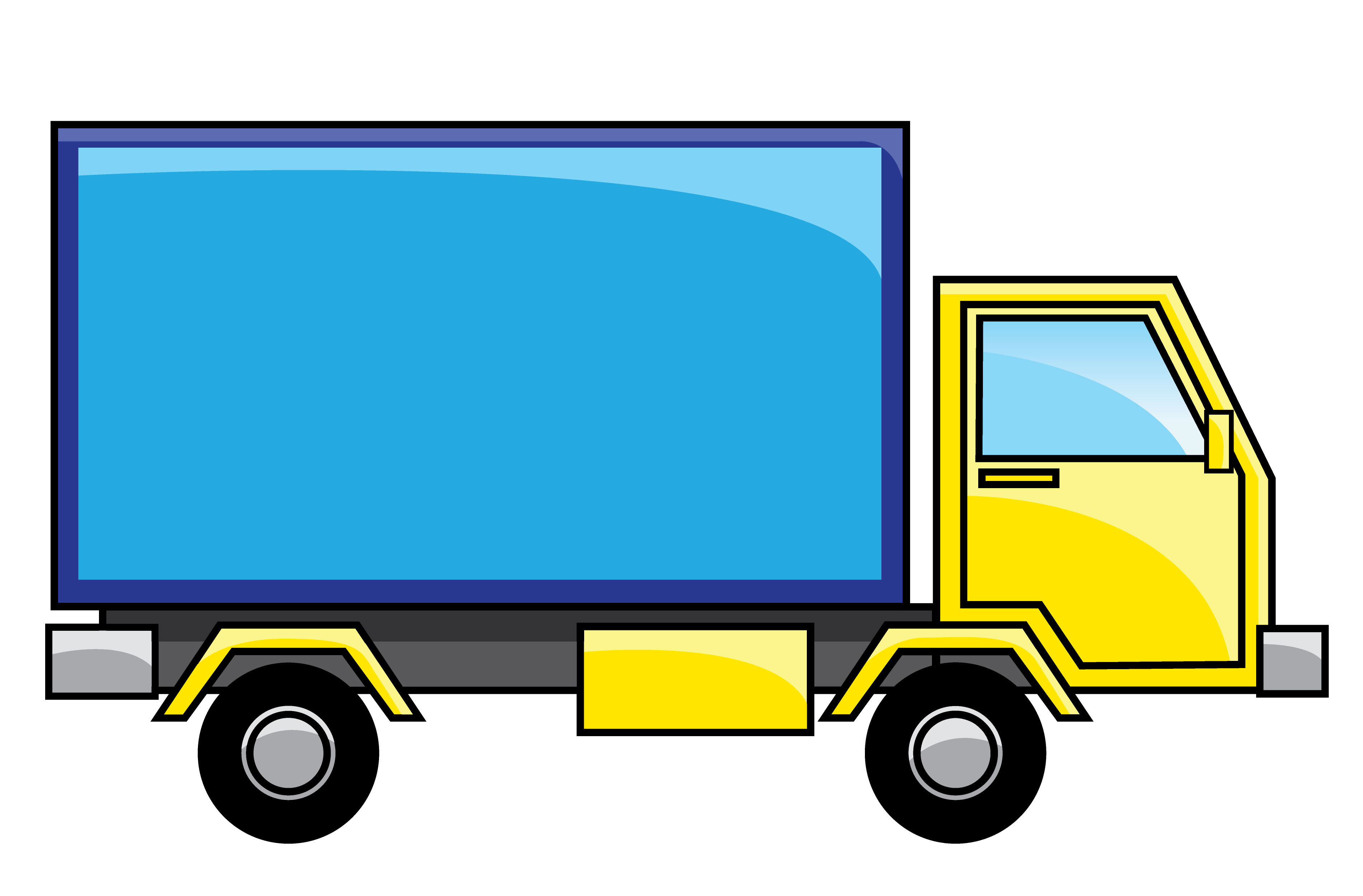 Free clipart auto clipart delivery truck image