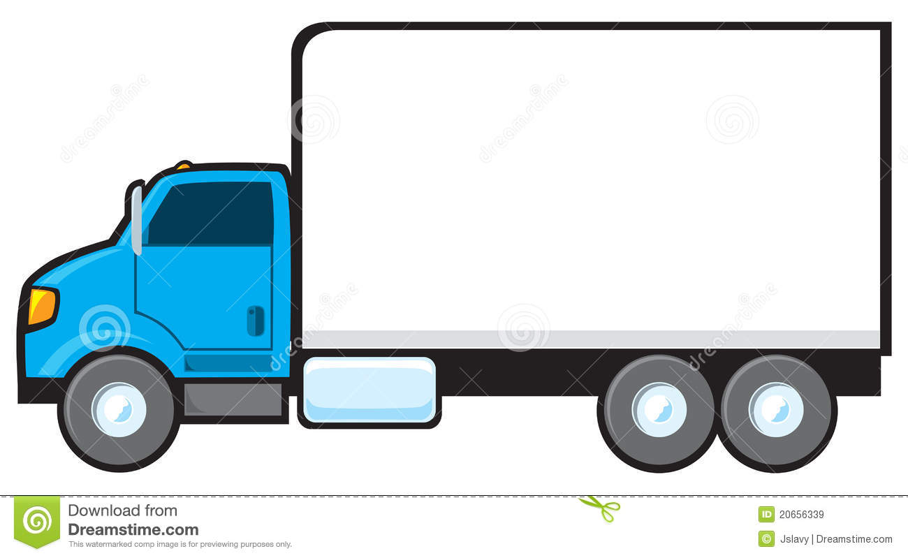 Vehicle clipart delivery truck #1
