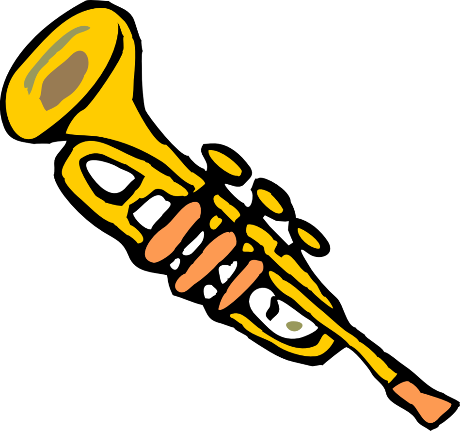 Trumpet Clip Art Black And White Clipart Panda Free Images