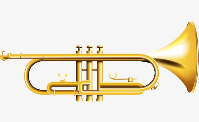 trumpet retro trumpet, Trumpet Clipart, Golden Horn PNG Image and Clipart