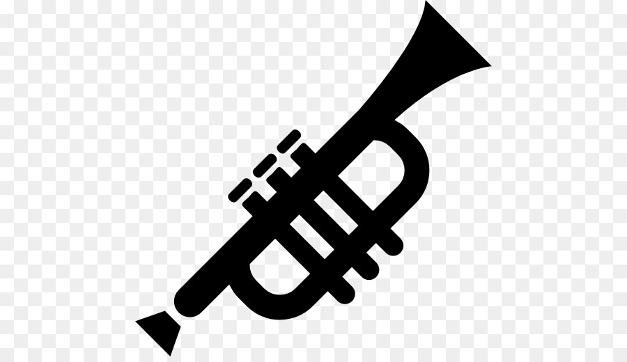 Trumpet Silhouette Mellophone Clip art - trumpet and saxophone
