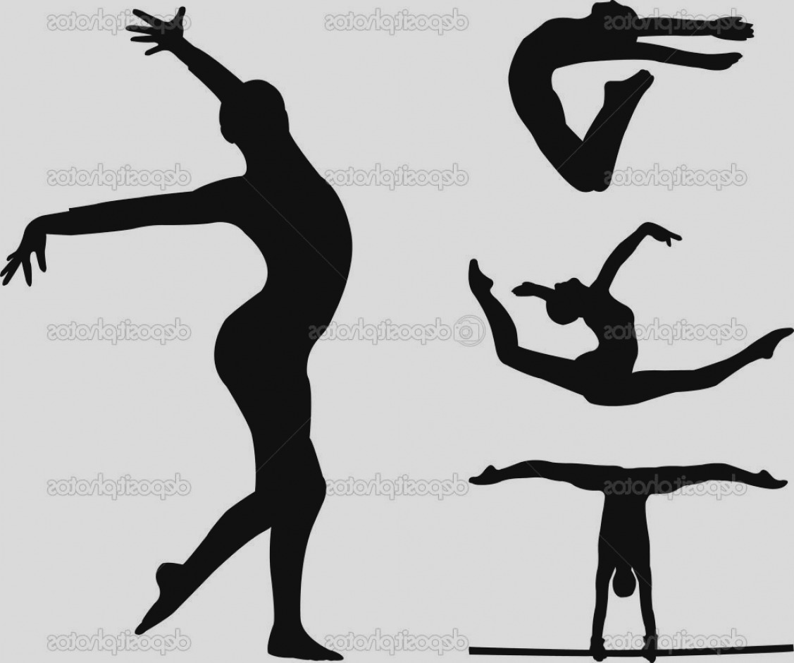 Trend Gymnastic Clip Art HD Tumbling Silhouette Pictures Vector Drawing