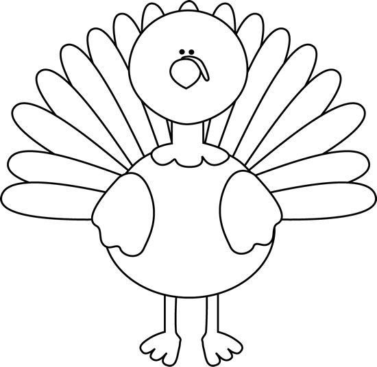 Turkey Clipart Black And White