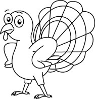 Turkey clipart outline black and white