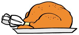 Turkey Clipart Image: Roasted Turkey Dinner For Thanksgiving
