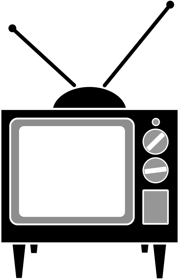 Tv Clipart Black And White Free Clipart Images