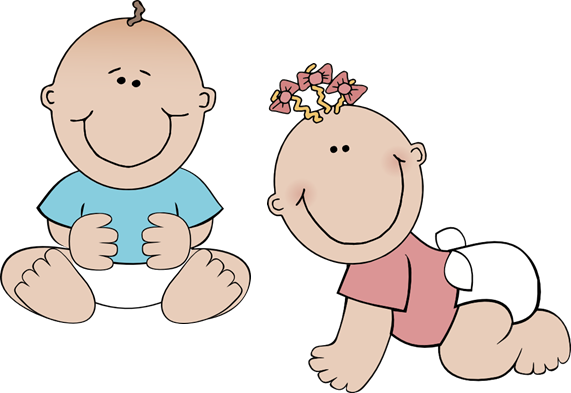 Twin Babies Clipart 1 Custom Twins Guest Book