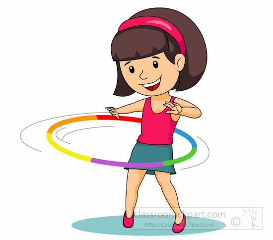 Twirling Hula Hoop Around .