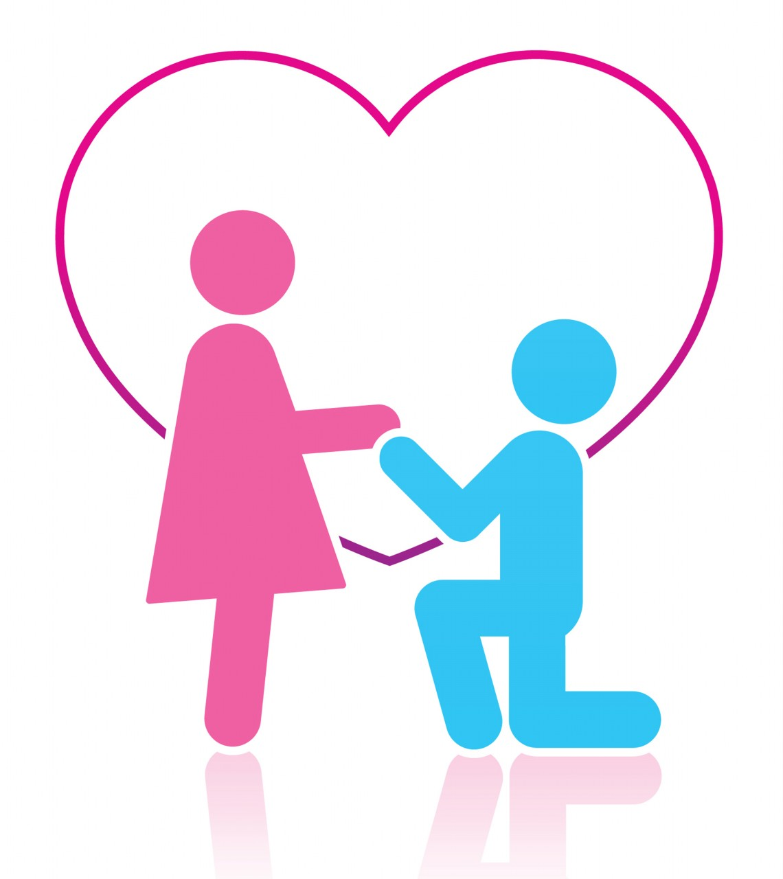 two people in love clipart