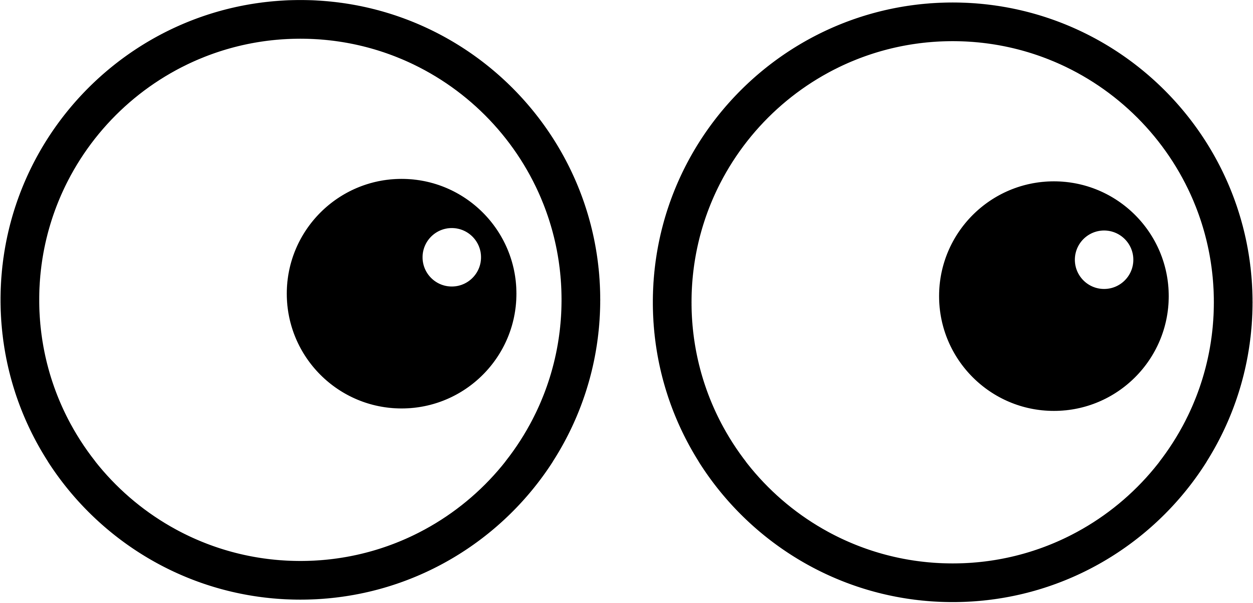 Two eyes clipart