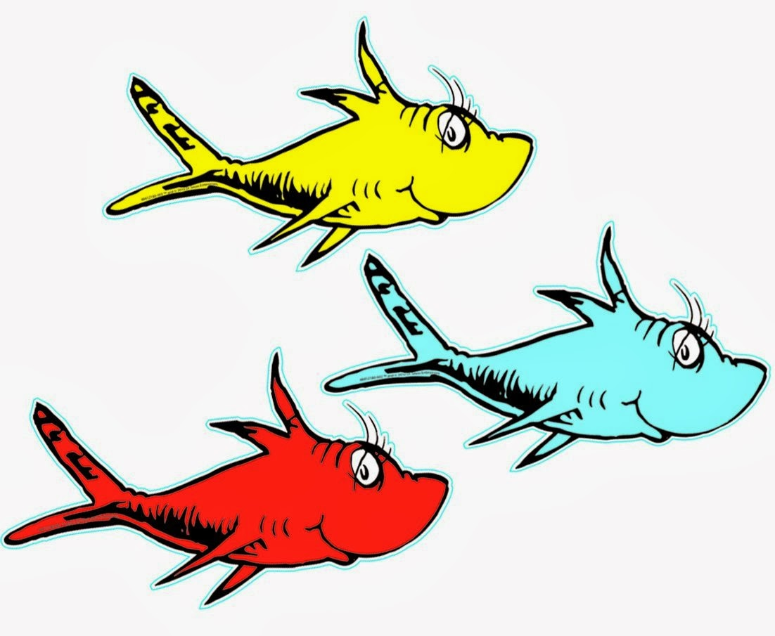 two fish dr seuss clipart