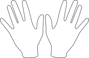 Two Hands Clipart #1