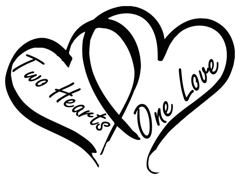 Two hearts one love clipart