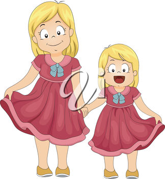 Two Sisters Clipart Two Sisters Clip Art Image
