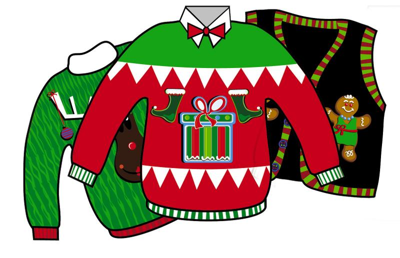 Ugly Christmas Sweater Party .