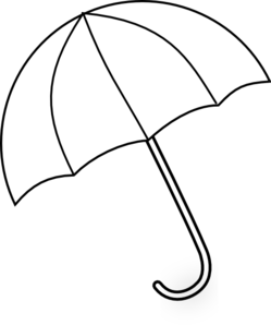 Black And White Umbrella Clipart #1