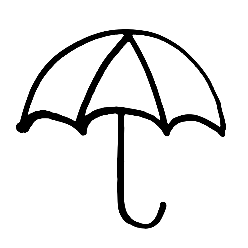 Rain Boots Clipart Black And  - Umbrella Clipart Black And White