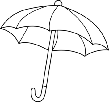 Umbrella Clipart Black N White #6
