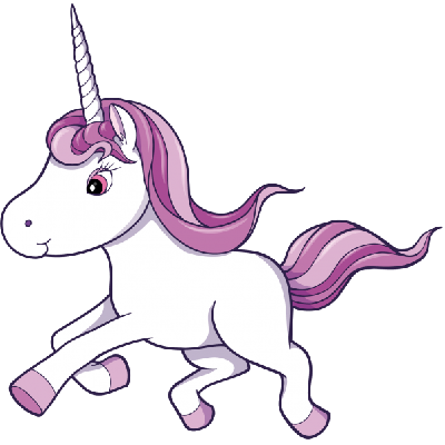 Unicorn clip art free vector .