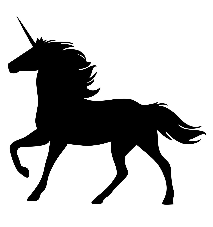 Unicorn Silhouette Clipart
