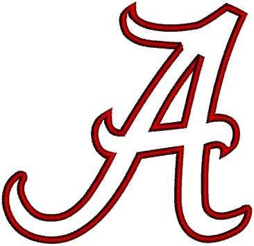 University Of Alabama Crimson Tide Machine By Sportsembroidery 2 99