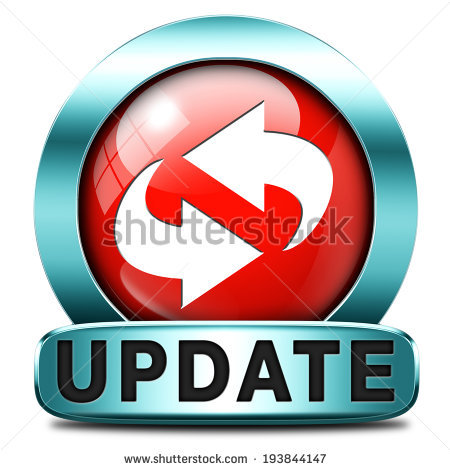 Update software now and here to the latest newest version or new edition,  button banner