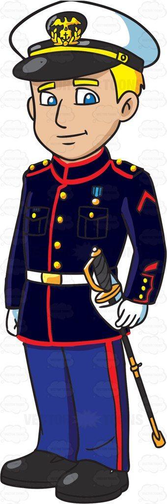 US Marines, Blue dresses and .