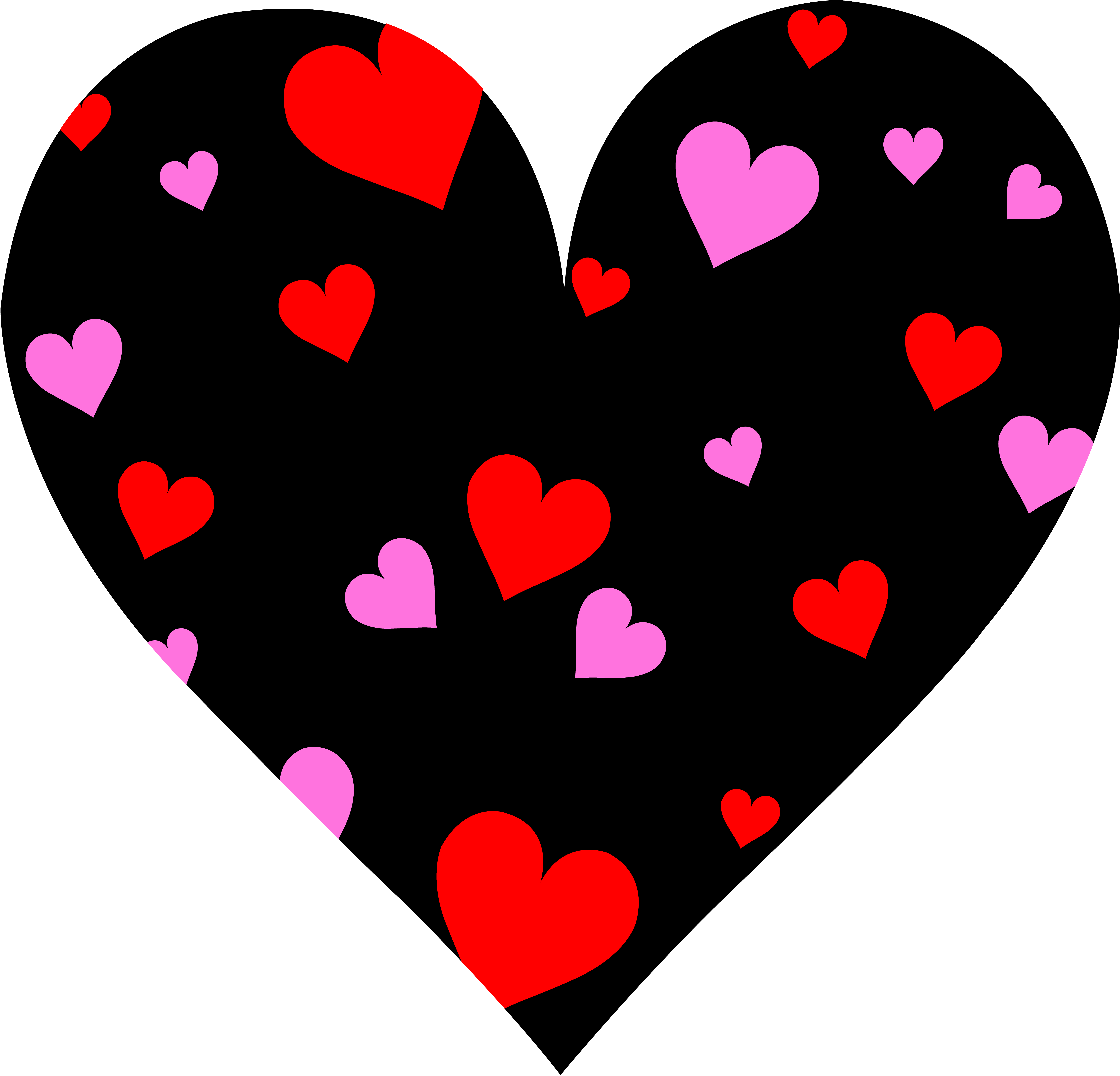 Cute Patterned Valentines Day - Valentine Heart Clipart
