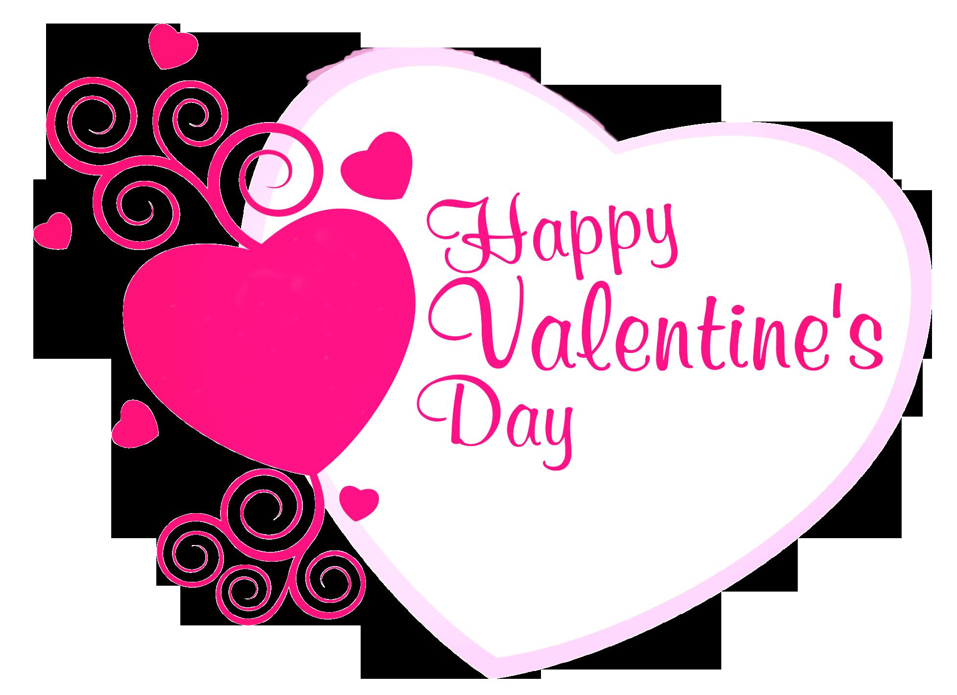 Valentines day hearts happy .