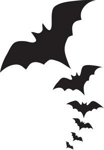 Vampire Bats Clipart Image A Swarm Of Vampire Bats Flying Through The