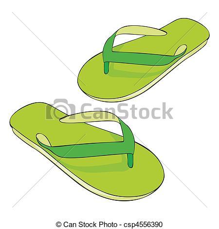 Vector - beach slippers