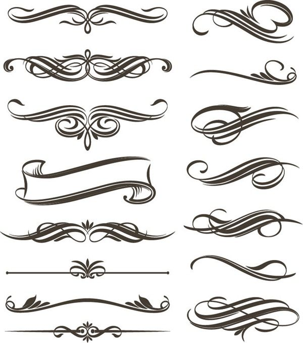 filigree vector clip art borders