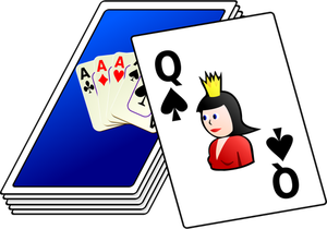 Vector drawing of color deck of cards