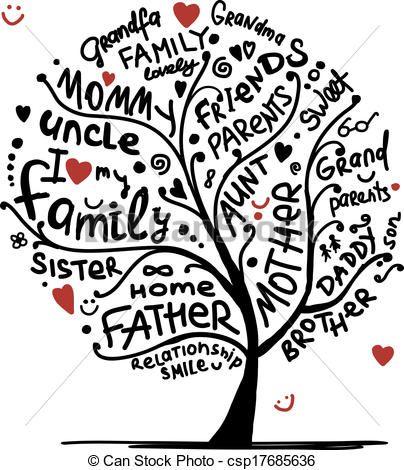 Vector - Family tree sketch .
