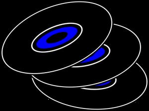 Vector graphics of vinyl records